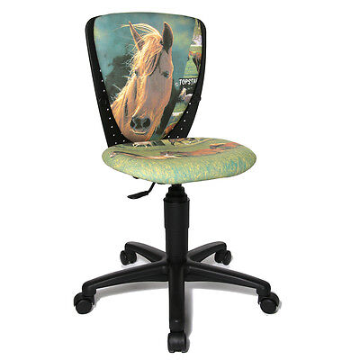 Kinder Tisch Stuhl (Kinder Schreibtischstuhl Stuhl Büro Drehstuhl Topstar S´cool Pferde Horse B-Ware)