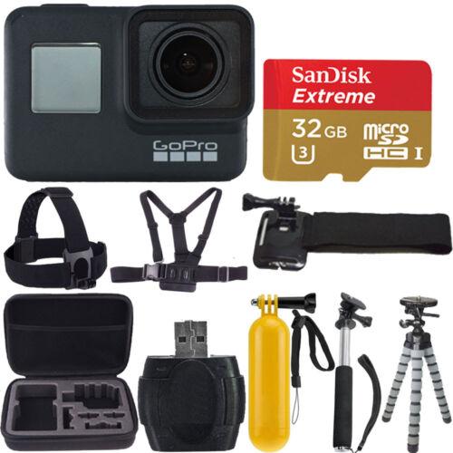 GoPro HERO7 Black Waterproof Digital Action Camera 4K HD Video 12MP + 32gb Kit