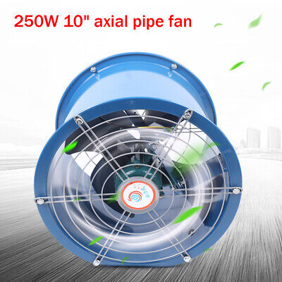 10 250w Explosion-proof Axial Flow Fan Kitchen Cylinder Pipe 1000-2000mh 110v