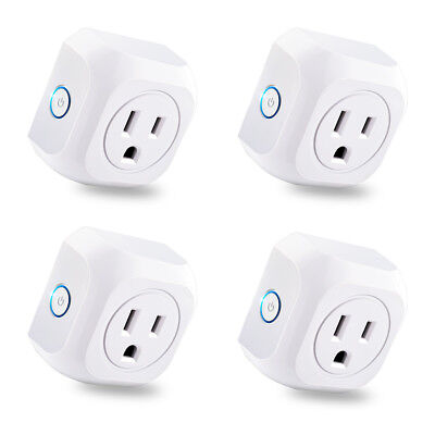 4x Smart WIFI APP Remote Control Timer Switch Power Socket Outlet US Plug