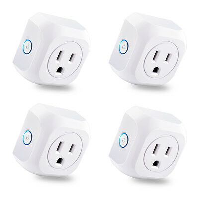 4pcs WIFI Smart APP Remote Control Timer Switch Power Socket Outlet US Plug