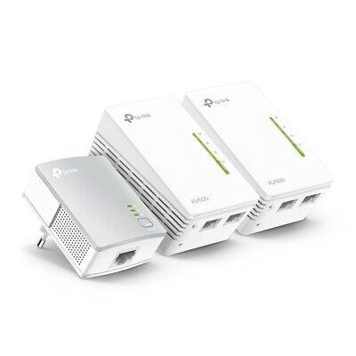 TP-LINK TL-WPA4220 TKIT 3er Conjunto AV600 Powerline WLAN Wifi 300Mbps 2xLAN