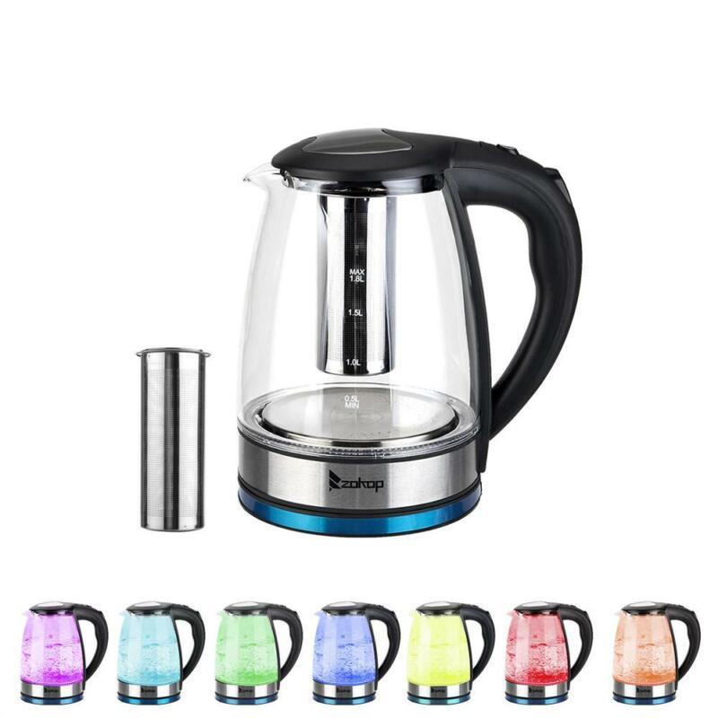 Zimtown 1.8L Electric Kettle Glass Kettle Electric Tea Kettl