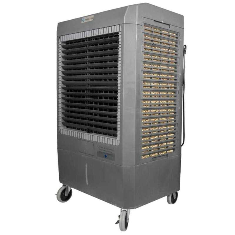Hessaire Portable Evaporative Cooler-5,300 CFM 3-Speed In  Gray.