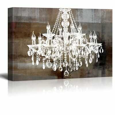 "wall26 - Canvas - Crystal Chandelier on Abstract Vintage Background - 24""x36"""