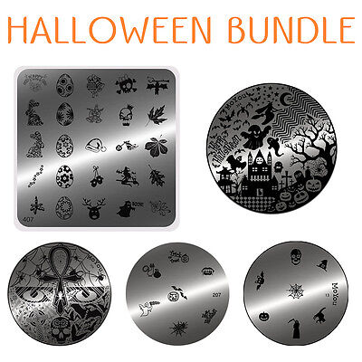 MoYou Nails Special Halloween 5 Stamping Art image plates bundle, Template (Nail Art Special Halloween)