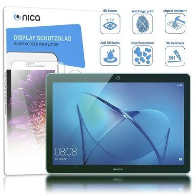 NALIA Schutz Glas für MediaPad T3, 9H Glasfolie Tablet Schutzfilm