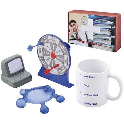 Antistress Büro Stress Set Tasse Massage Knautsch Entspannung PC Geschenk Arbeit
