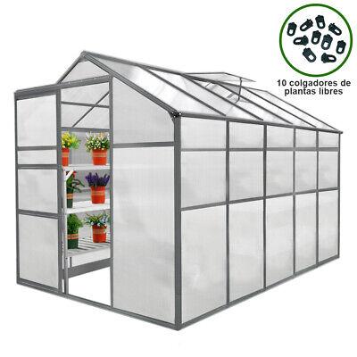 Invernadero Policarbonato Tipo Caseta Jardín 1.8m x 3m Sin Base