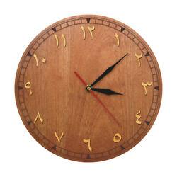 Arabic Numerals Wooden Wall Clock Quiet Sweep Quartz Watch Eski Vakit Duvar Saat