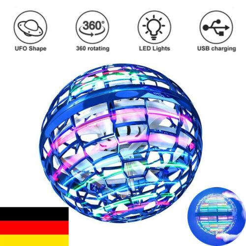 Mini Drohne Fiegender Spielzeug Handgesteuerter Flugball mit LED UFO Ball Kinder