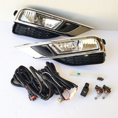 Clear Lens Fog Driving Light Kit For 2015 2016 Honda CR-V with Switch Bulb Bezel