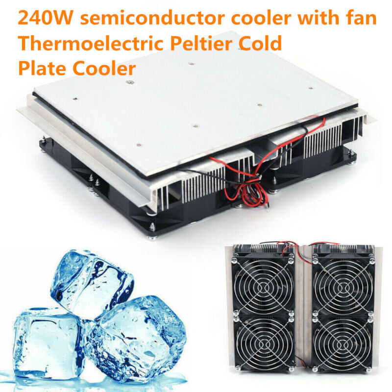 240W Semiconductor Refrigeration Peltier 4 Cold Cooling Plate Cooler hot sale