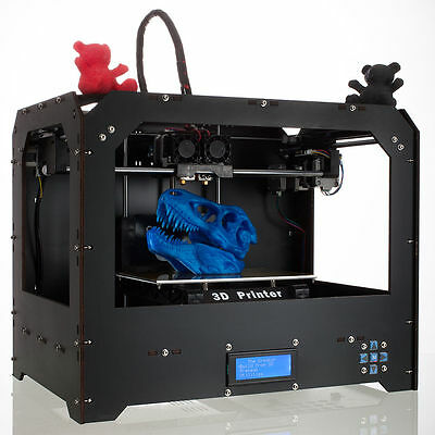 2018 Upgraded Full Quality High Precision Dual Extruder 3d Printer - PLA ABS