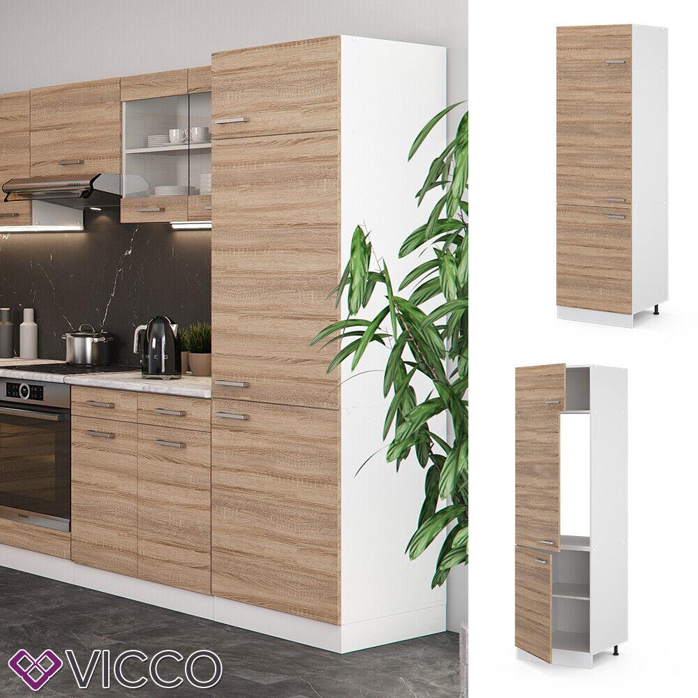 VICCO Küchenschrank Hängeschrank Unterschrank Küchenzeile R-Line Kühlumbauschrank 60 cm sonoma