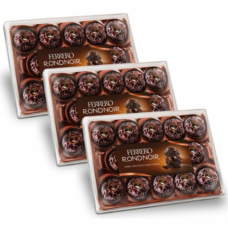 3x Ferrero Rondnoir 14pcs 138g EXP 7/25/21 Dark Chocolate - Sweets from Germany