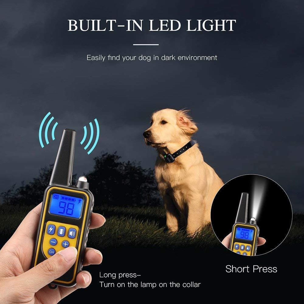 Waterproof Dog Training Electric Collar Rechargeable Remote Control 875 Yards 5
