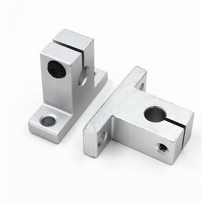 2pcs Sk8 8mm Linear Rail Shaft Guide Support Cnc