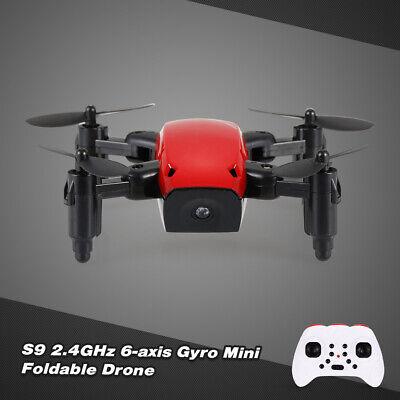 S9W 2.4G 4CH 0.3MP Camera WIFI FPV Mini Drone Altitude Hold Foldable Drone T6T1