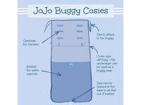 Jojo Maman buggy cosy/ foot warmer - bright striped - fits most buggies/prams