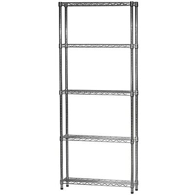 8d X 30w Chrome Wire Shelving With Five Shelves