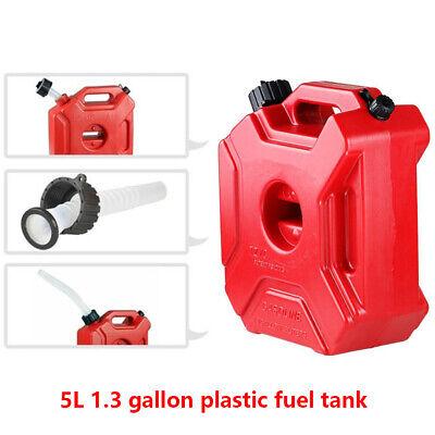 Red 5l Jerry Can Gas Plastic Fuel Tank Atv Utv Motorcycle Mount Kit Bracket Lock