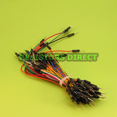 65pcs Solderless Breadboard Jumper Wires For Arduino Avr Prototyping Breadboard