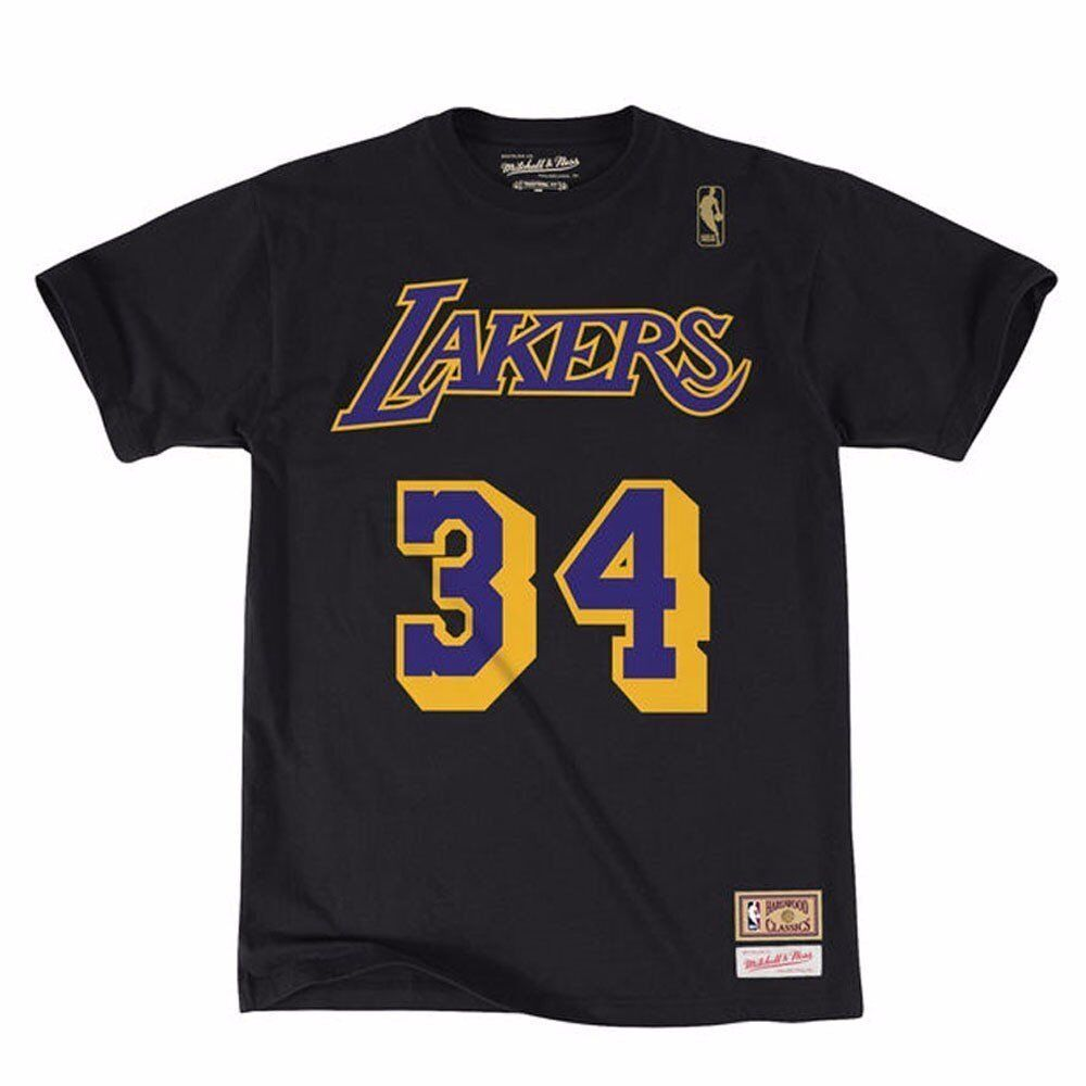 Shaquille O/'Neal Los Angeles Lakers adidas NBA Hall of Fame Men/'s T-Shirt