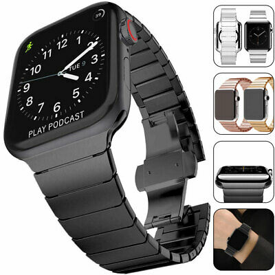 Metal Steel Link Watch Band Strap for Apple Watch Series 5 4 3 2 1 38/40/42/44mm