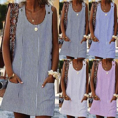 Plus Size Women's Cotton Summer Short Sleeve Long T-Shirt Ladies Casual Dress US - Ladies Clothing Dresses