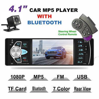 4.1 Zoll 1 DIN Autoradio Car MP5 Mediaplayer Bluetooth FM AUX USB Rückfahrkamera (Media Player Autoradio Bluetooth)