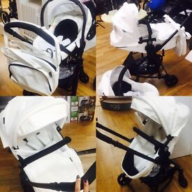 White leather pushchair for sale collection only