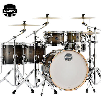 """Mapex Armory 6pc Studioease Fast Shell Pack Drum Set 22"""" Black Dawn AR628SFUCTK"""