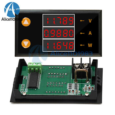 Dc 0-200v 10a Range 5 Bit High Precision Voltage And Current Power Meter Tester