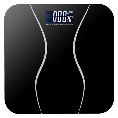 396lb Waist Electronic Body Weight Scale LCD Digital Bathroom + Battery