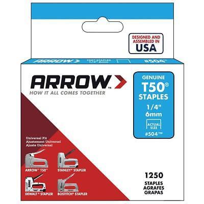 """Arrow T50 Staples 1/4"""" - 1 case of 20"""