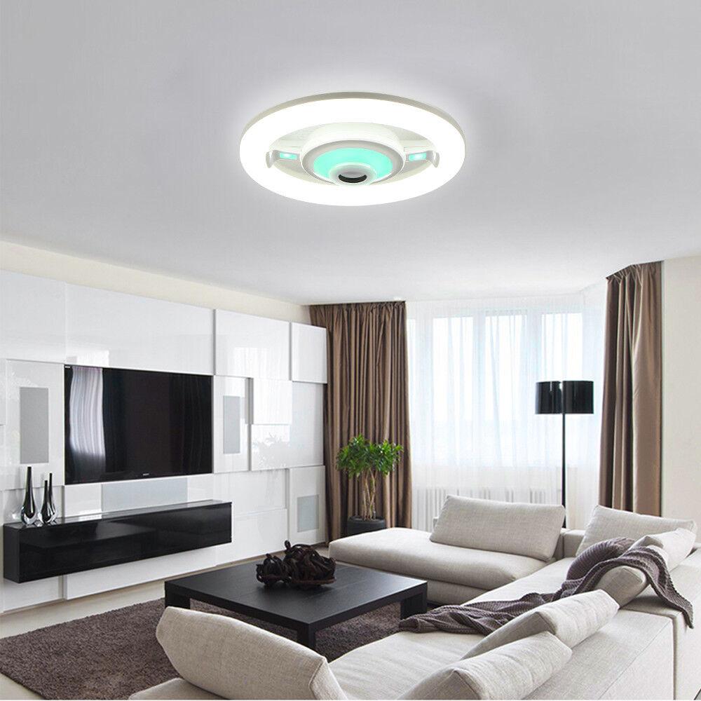LED RGB Bluetooth Lautsprecher Deckenleuchte Modern 19W ...