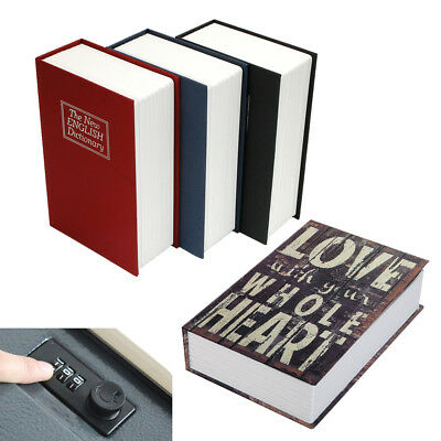 Home Security Mini Dictionary Book Safe Piggy Bank Storage Number Lock Box Cash - Number Book