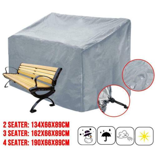 2/3/4 Seater Heavy Duty Waterproof Bench Seat Cover Garden Weatherproof Cover