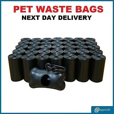 Dog Poo Bags Waste Tie Handles Strong Biodegradable