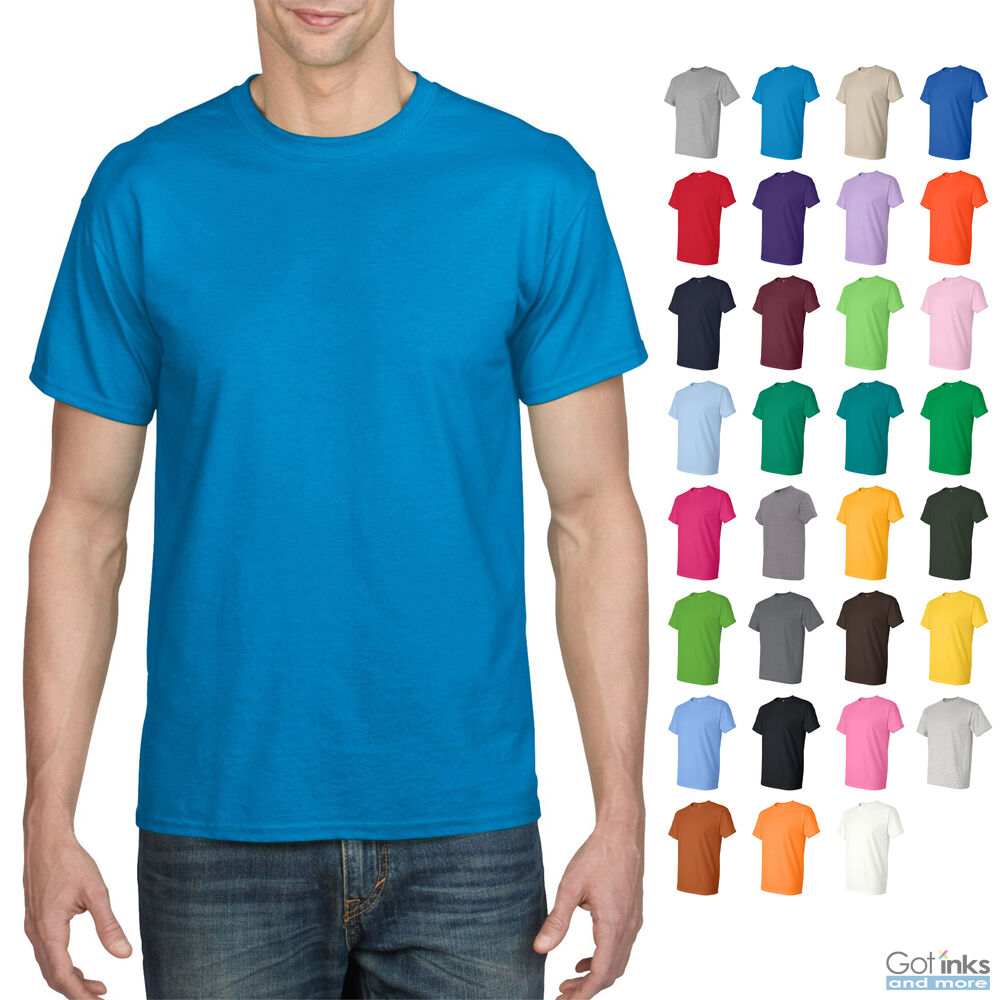 1604d410fe1f Details about Gildan Mens DryBlend 50/50 Cotton/Polyester Plain T-Shirt  Short Sleeve S-5X 8000