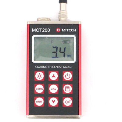 Mitech Mct200 Magnetic Induction Eddy Current Paint Coating Thickness Gauge