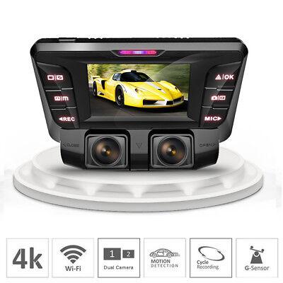 4K hidden Wifi HD Car DVR Video Camera Dash Cam dual lens Vehicle Cam Recorder