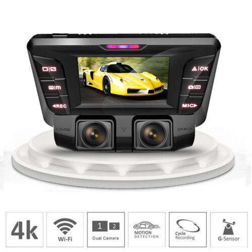 dual lens Dash Cam wifi car Cam Recorder 4k car dvr Video ca