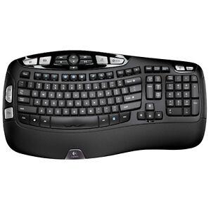 Logitech K350 Wireless Wave Ergonomic Keyboard w/Unifying Receiver