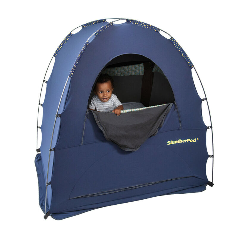SlumberPod 2.0 Portable Tent/Sleeping Pod/Bed for 4m-5y Baby/Kids/Toddler Blue