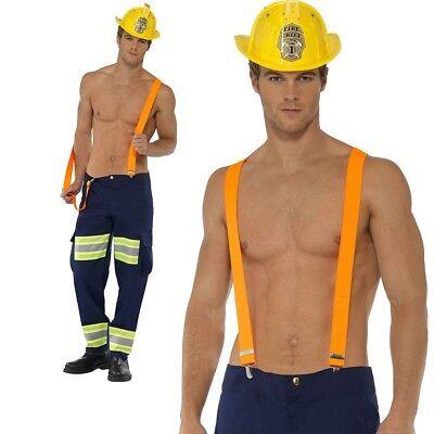 Fireman Stripper Stag Night Costume Adults Firefighter Uniform Fancy Dress Outfi