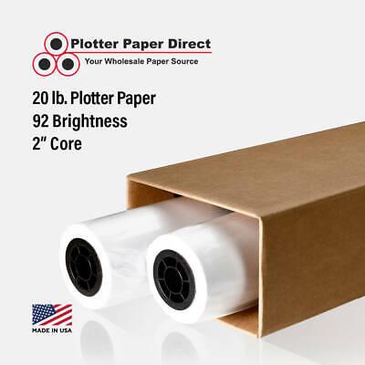 2 Rolls 30 X 300 20lb Bond Plotter Paper For Wide Format Inkjet Printers