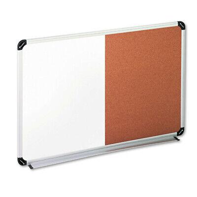 Universal One Corkdry Erase Board 36x24 Blkgray Alumplastic Frame 43743 New