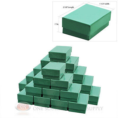 25 Teal Blue Cotton Filled Jewelry Gift Boxes 2 58 X 1 12
